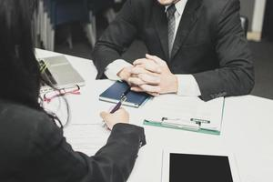 Business person on an interview photo