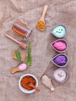 Alternative skincare and homemade scrubs photo