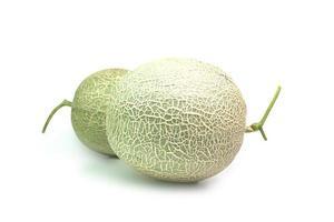 Melon fruit isolated on white background photo