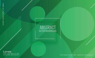 Fondo vibrante del círculo verde abstracto vector