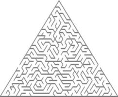 patrón de vector con un laberinto 3d triangular gris.