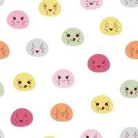 Colorful kawaii mochi seamless pattern