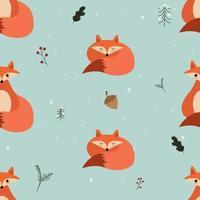 lindo zorro de patrones sin fisuras. bueno para usar en diseño textil, papel tapiz, etc. vector