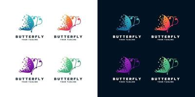 Butterfly logo design set