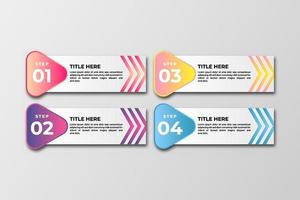 Business data visualization Template. Infographic design element steps, option, process, timeline. gradient colorful graphic elements for process, presentation, layout, banner, infograph. vector