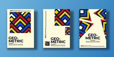 Set of geometric cover. Abstract shapes compositions. Geometric pattern. vector illustration