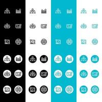 financial advisory icon set flat color vector