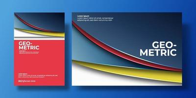 Abstract colorful background cover with gradient color and shadow. can be used for background, flyer, annual report, book cover, identity, placard. blue, red, yellow, white poster template vector