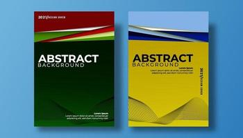 Abstract cover 3d paper art vector illustration set. wave colorful background cover.