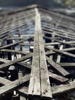 Old and worn-out wooden roof photo