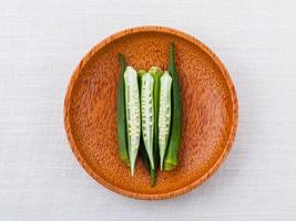 Okra in a bowl
