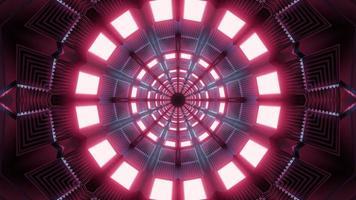 Ilustración de diseño de caleidoscopio 3d rosa, azul y morado para fondo o textura foto