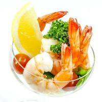 Fresh steamed shrimp in a bowl