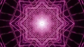 Purple star lines 3D kaleidoscope design illustration for background or texture