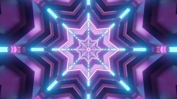 Colorful 3d kaleidoscope star illustration for background or texture