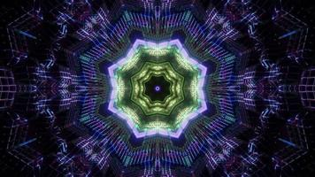 Green and blue 3d kaleidoscope illustration for background or texture