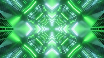 Green shades 3D kaleidoscope design illustration for background or texture photo
