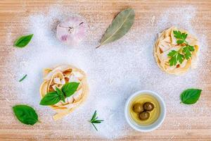 Fresh pasta concept photo