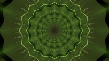 Ilustración de caleidoscopio 3d verde y gris para fondo o textura foto