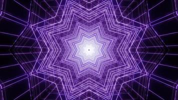 Blue and purple 3d kaleidoscope illustration for background or texture