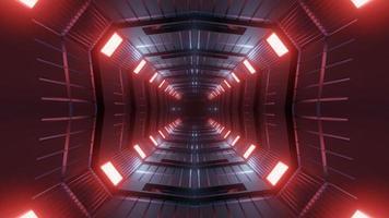 Ilustración de diseño de caleidoscopio 3d rojo, azul y gris para fondo o textura foto