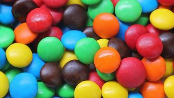Close-up of colorful circular candy photo