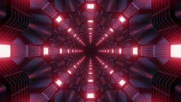 Ilustración de diseño de túnel de caleidoscopio 3d para fondo o textura foto
