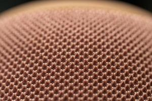 Close up of pink knitted fabric