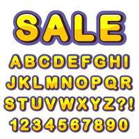 Letra del alfabeto con números de diseño de estilo moderno. vector