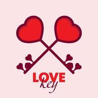 Love key valentine's day vector