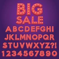 letra alfabeto divertido marquesina bombilla lámpara dibujos animados vector