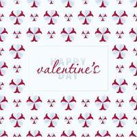 día de san valentín corazón flor de patrones sin fisuras vector
