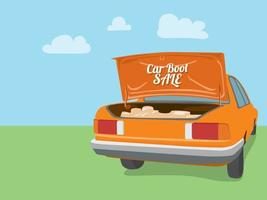 Car Boot Sale on illustration graphic vector