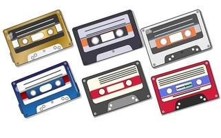 Audio cassette tapes isolated