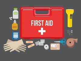 Kit de primeros auxilios vector