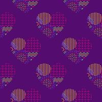 corazón geométrico de patrones sin fisuras vector