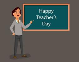 world teachers day flat illustration vector