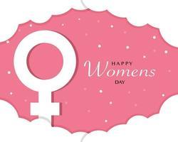 Happy Womens Day Tempate Vector
