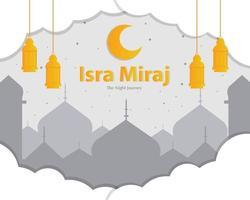 Isra and Miraj Background Vector