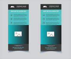 Modern Real Estate Dl Flyer Design vector