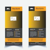 Creative Real Estate Dl Flyer Design vector
