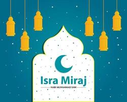 Isra and Miraj Background Template vector