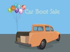 Car Boot Sale illustration graphic vector