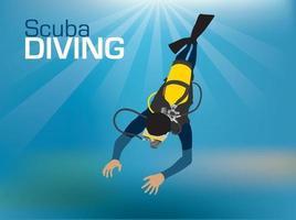 Scuba Diving illustration graphic vector