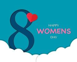 Happy Womens Day Simple Background vector