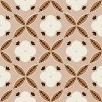 Floral pattern based on Batik Kawung motifs. Seamless batik pattern. vector