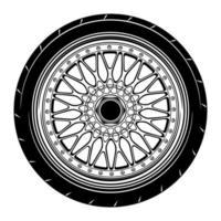 Car wheel illustration for conceptual design vector