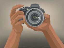 tomando fotos en vector gráfico de ilustración
