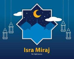 Isra And Miraj In Paper Style