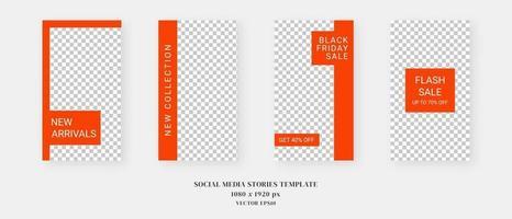 plantilla de redes sociales. plantilla de historias de redes sociales editables de moda. maqueta aislada. diseño de plantilla. ilustración vectorial. vector